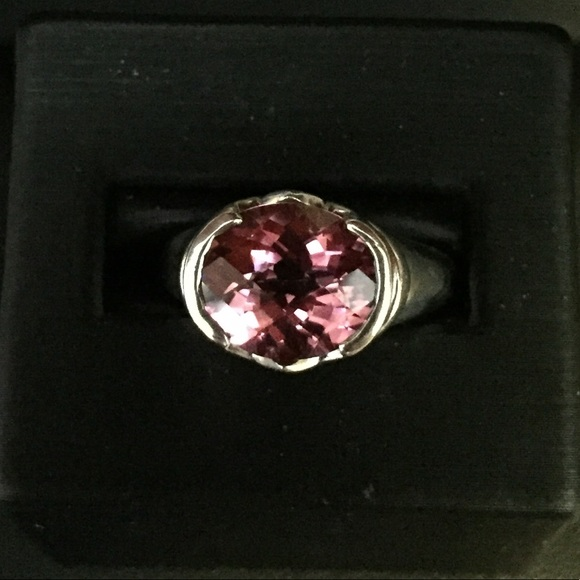 Jewelry - Sterling silver pink topaz ring